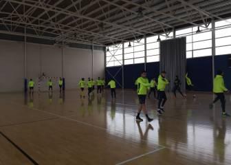 Las lluvias obligan al Villarreal a entrenar en un polideportivo