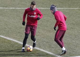 Lucas se entrenó con el resto y podría estar para Bilbao