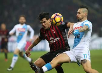 El Nápoles se impone al Milán y mete presión a la Juventus