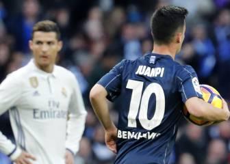 Juanpi Añor marcó contra el Real Madrid en pleno Bernabéu