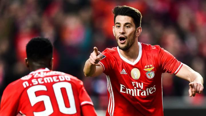 Pizzi Fernandes celebrando su segundo gol frente al Tondela.