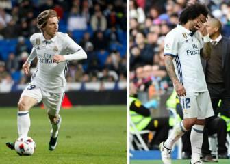 Luka Modric y Marcelo estarán fuera de tres a cuatro semanas