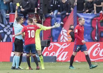 Osasuna presentará una queja por el arbitraje ante el Sevilla