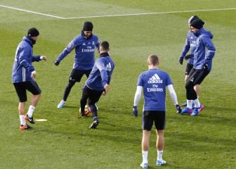 Cristiano, James y Danilo se entrenaron al margen del grupo