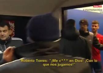 Jugadores de Osasuna al árbitro: