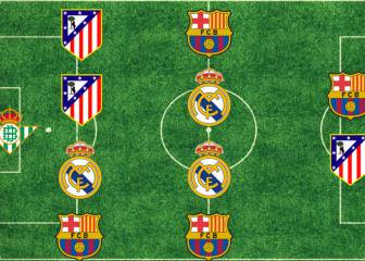Once de la primera vuelta: 4 del Barça y 3 del Madrid, sin Cristiano