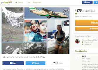 Superviviente del vuelo de la Chape pide ayuda en internet