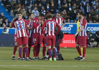 Simeone headache as Atleti reduced to 15 outfield players