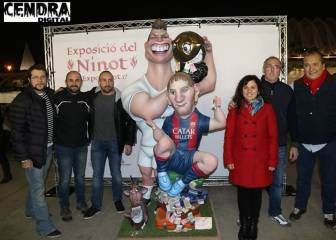Cristiano, Messi, Alcácer 'ninots' to be torched in Las Fallas