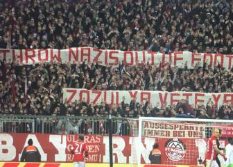 Bayern fans display anti-Roman Zozulya banner in Allianz Arena