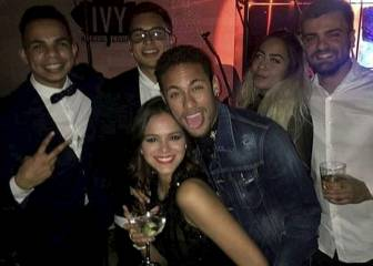 Larging it: Neymar's 25th birthday knees-up bash