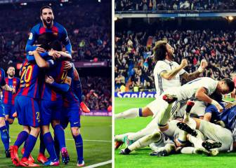 Así llegan Barça y Real Madrid a la Champions League