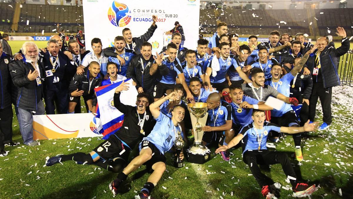 Resultado de imagen para sudamericano sub 20 uruguay campeon 2017