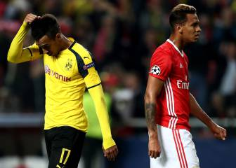 Benfica take advantage as Dortmund and Aubameyang stall
