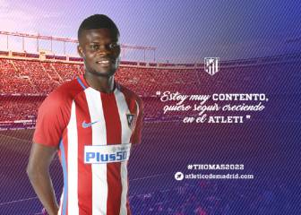 Thomas signs up for the Atleti party with renewal to 2022