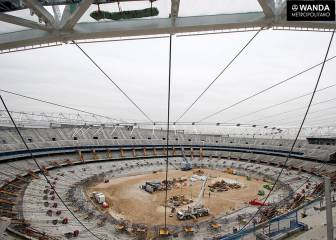 Taking shape: latest images of the Wanda Metropolitano