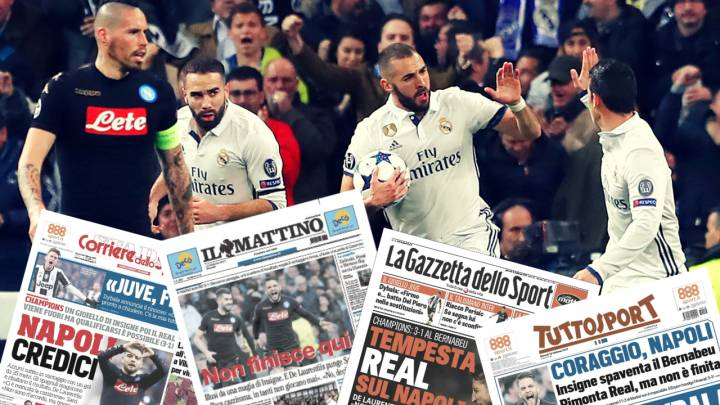 Revista de prensa Real Madrid-Nápoles.