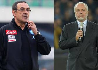 Napoli boss Sarri set to leave after De Laurentiis insults