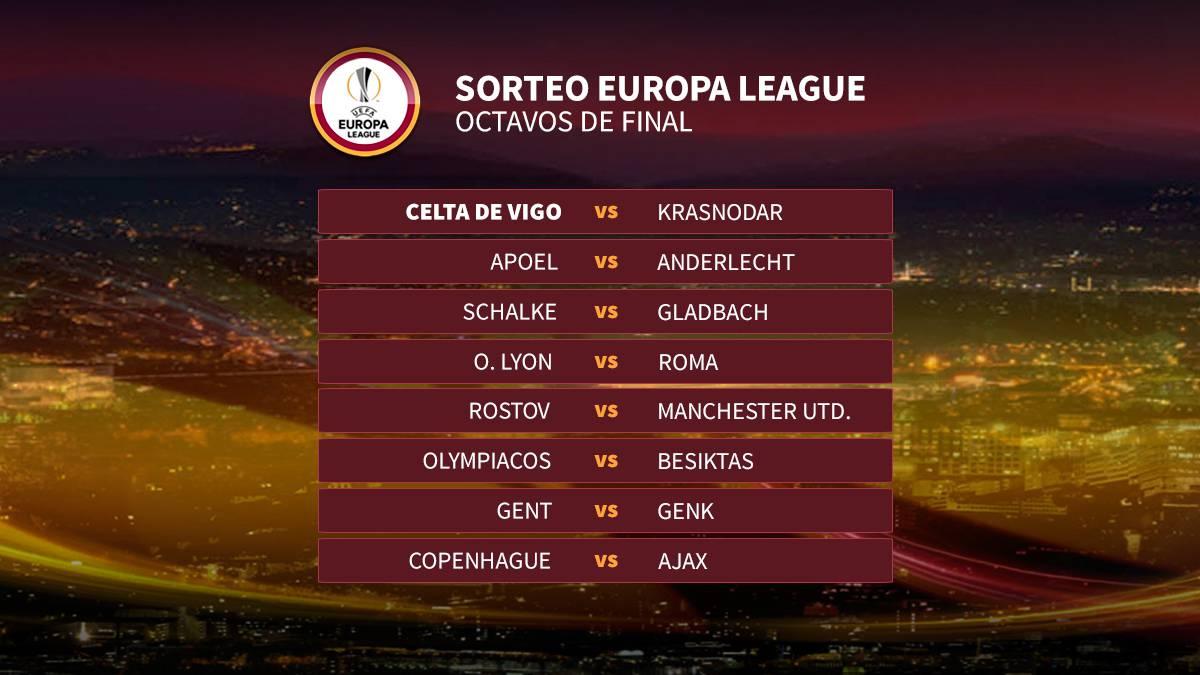 El Celta, ante el Krasnodar ruso en octavos de la Europa League