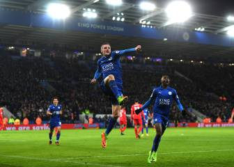 Vardy at the double in reminder of Ranieri's glory