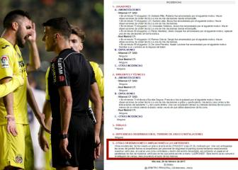 Madrid-Villarreal referee finds