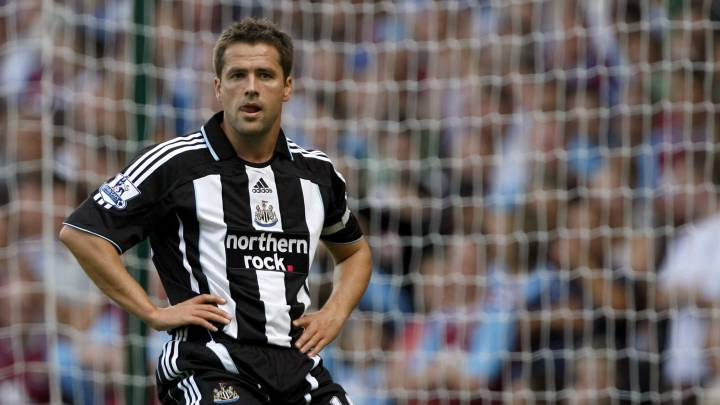 Michael Owen con el Newcastle.