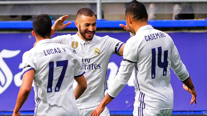 Real Madrid ganó 4-1 al Eibar