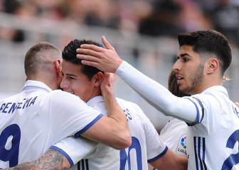 1x1 del Real Madrid: Benzema, Asensio y James se destaparon