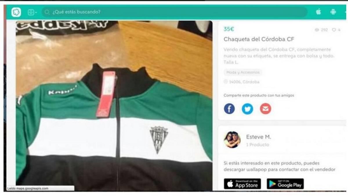 Un jugador del c rdoba vende ropa oficial en wallapop - Ropa segunda mano cordoba ...