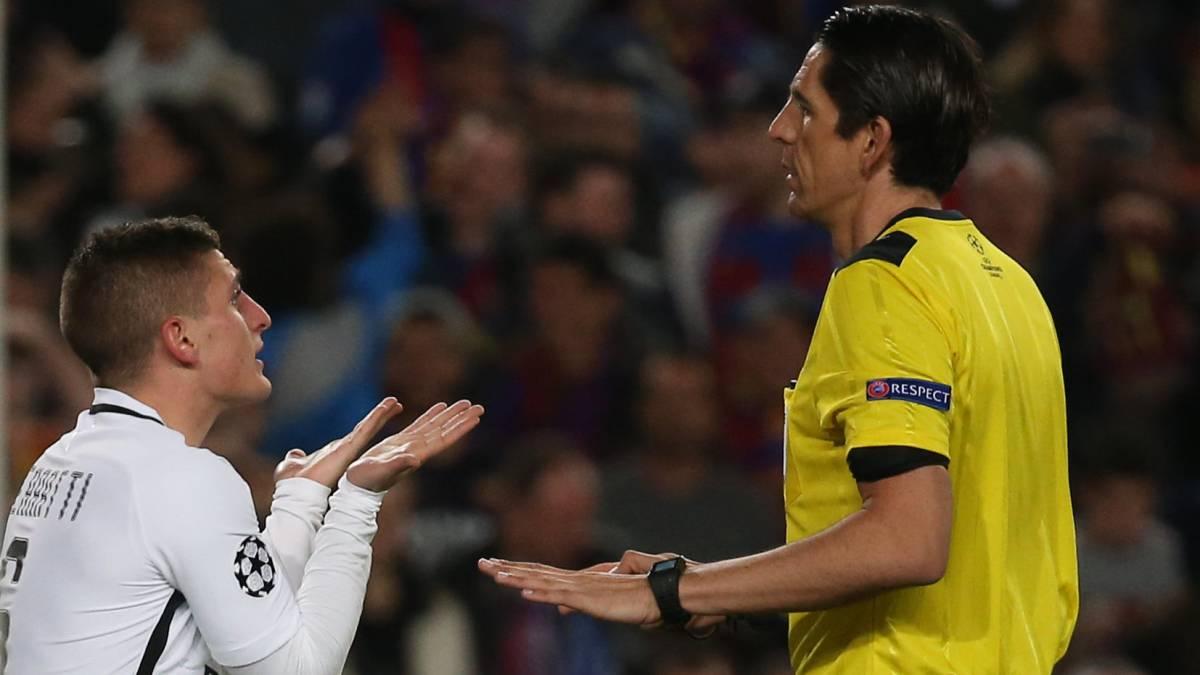 PSG se queja ante la UEFA por el arbitraje frente a Barcelona