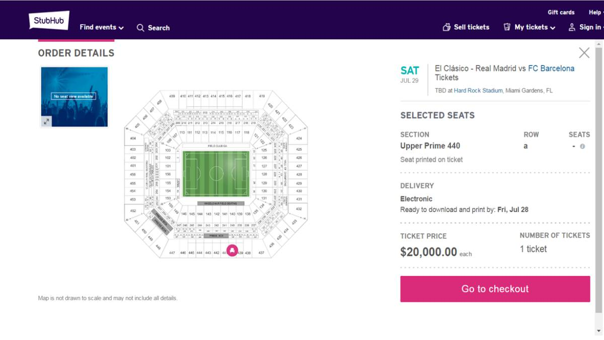 real madrid barcelona miami tickets resale prices soaring