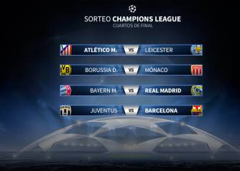 Atlético-Leicester; Bayern-Real Madrid y Juventus-Barcelona