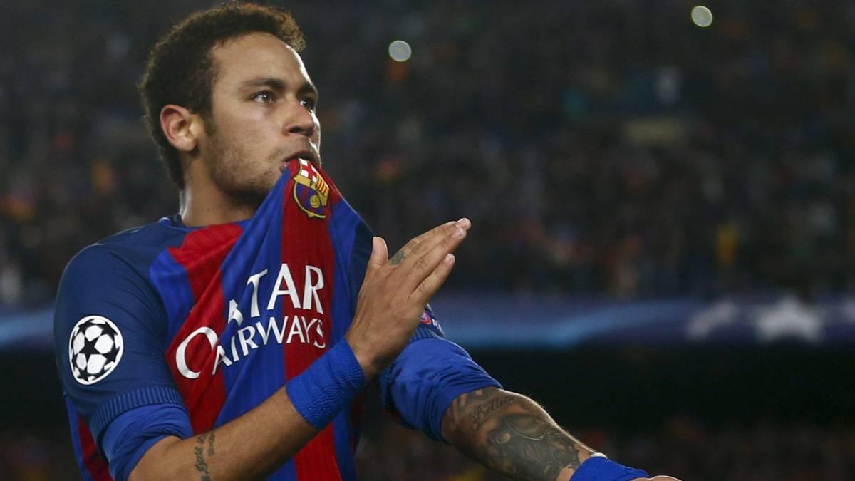 Neymar con el Barcelona.