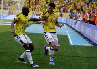James to the rescue for Colombia