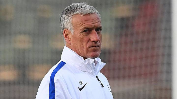 France\'s head coach Didier Deschamps supervises a training session of France\'s national football team at the Josy Bartel stadium in Luxembourg on March 24, 2016 on the eve of the of the FIFA World Cup 2018 qualifying football match against Luxembourg.