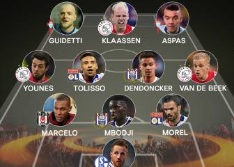 Iago Aspas y Guidetti en el once ideal de la Europa League