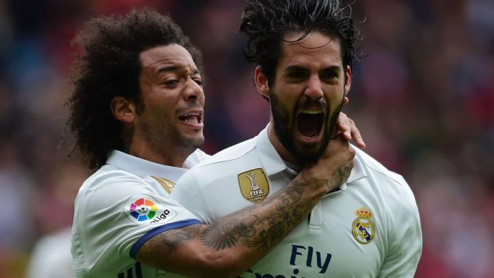 Real Madrid ganó 3-2 a Sporting Gijón
