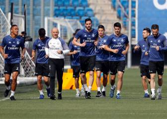 Ramos and Isco train apart whilst Bale continues his rehabilitation