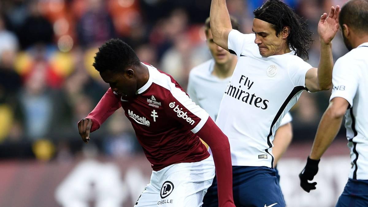 París Saint-Germain vence al Metz en Liga Francesa de Fútbol
