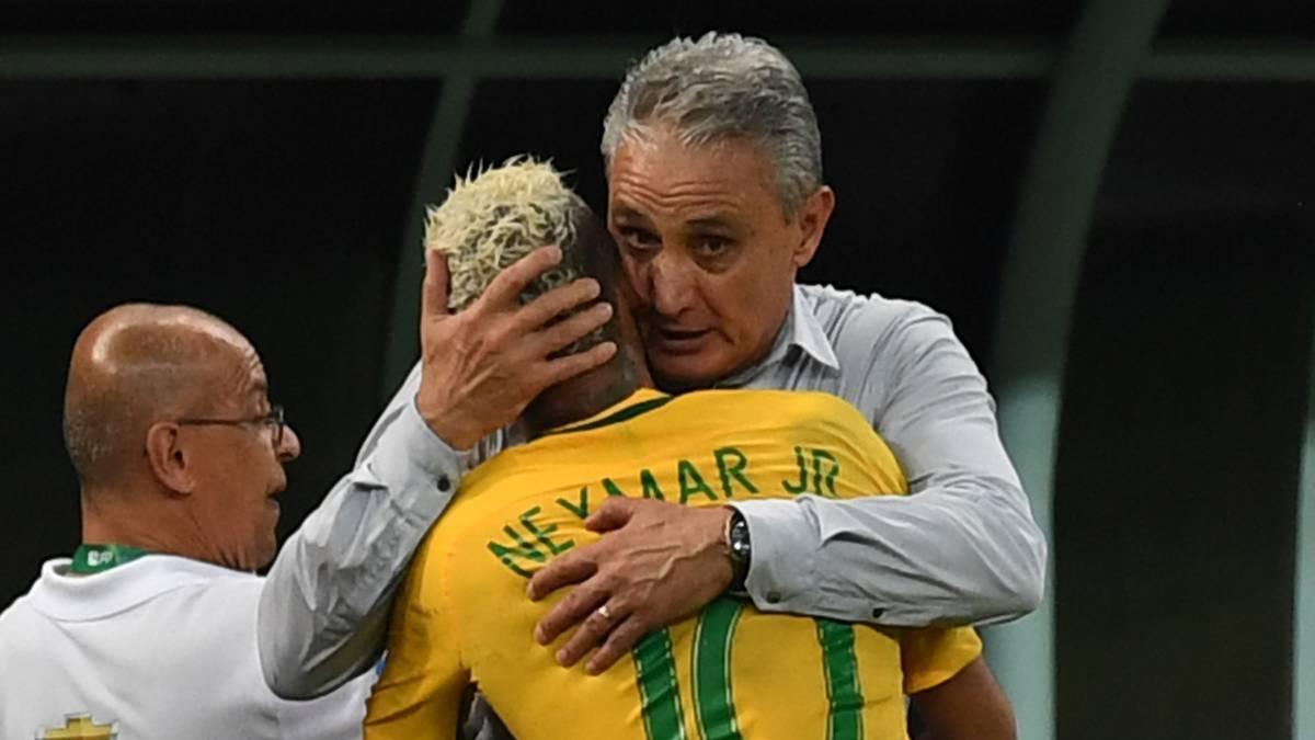 Resultado de imagen para tite y neymar brasil