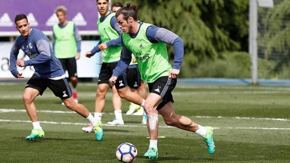 Gareth Bale se entrena con el grupo: está empeñado en jugar el Clásico