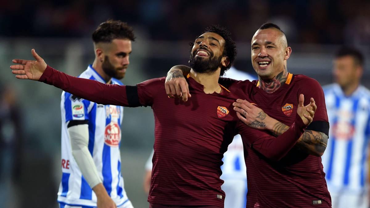 La Roma afianza el segundo puesto y manda al Pescara a la Serie B
