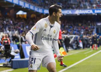 Real Madrid's Morata sends a message to Zinedine Zidane