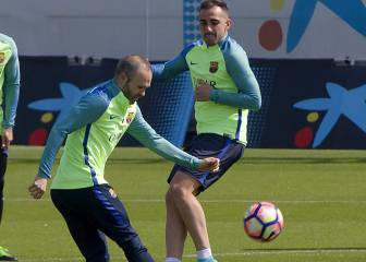 Iniesta back in training for Barça ahead of Villarreal match