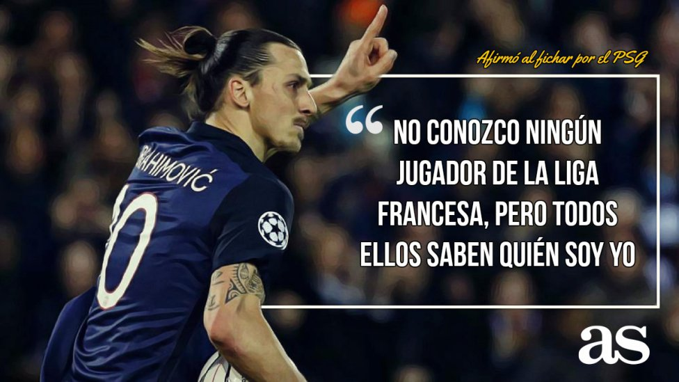 Las 7 mejores frases de Zlatan Ibrahimovic