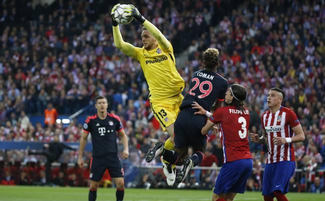 Oblak contra el Bayern.