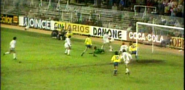 Gol de Butragueño al Cádiz.