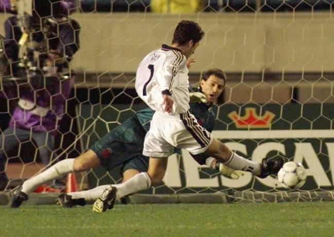 Aguanís de Raúl en la Copa Intercontinental de 1998.