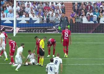 Nacho's clever free-kick gets Madrid underway