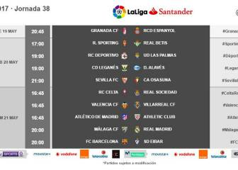 LaLiga shuffles final day fixtures after Sporting drop